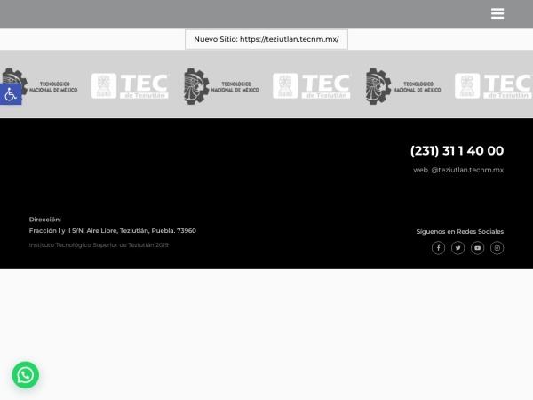 Screenshot of www.itsteziutlan.edu.mx