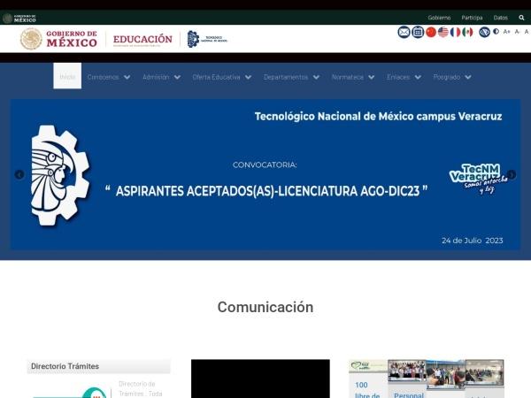 Screenshot of www.itver.edu.mx