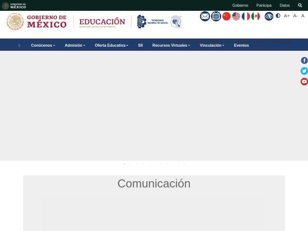 Screenshot of www.itzacatepec.edu.mx