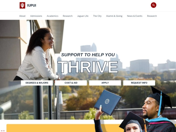 Screenshot of www.iupui.edu