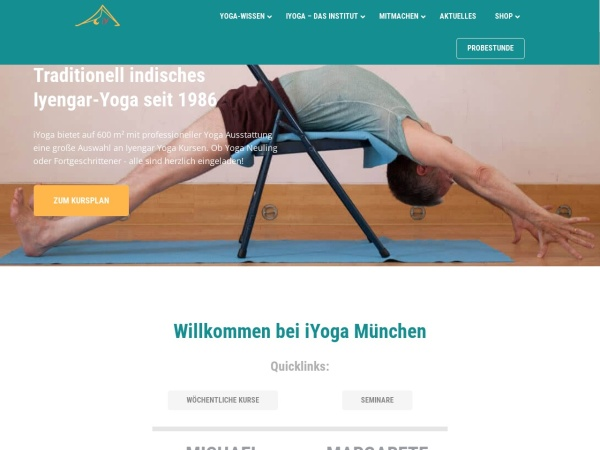 Screenshot von www.iyoga.de