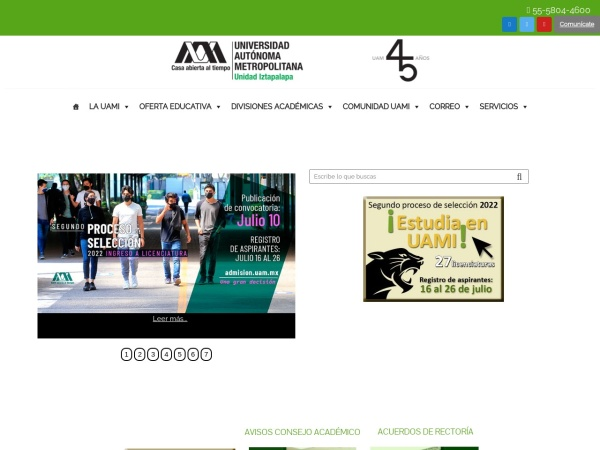 Screenshot of www.iztapalapa.uam.mx