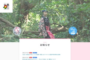 Screenshot of www.izu-oshima.or.jp