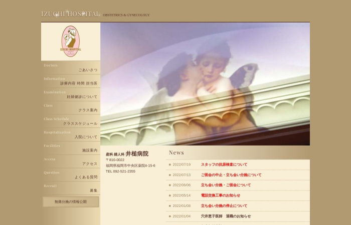 Screenshot of www.izuchi-hospital.gr.jp