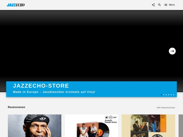 Screenshot von www.jazzecho.de