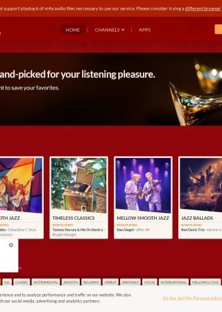 Screenshot of www.jazzradio.com