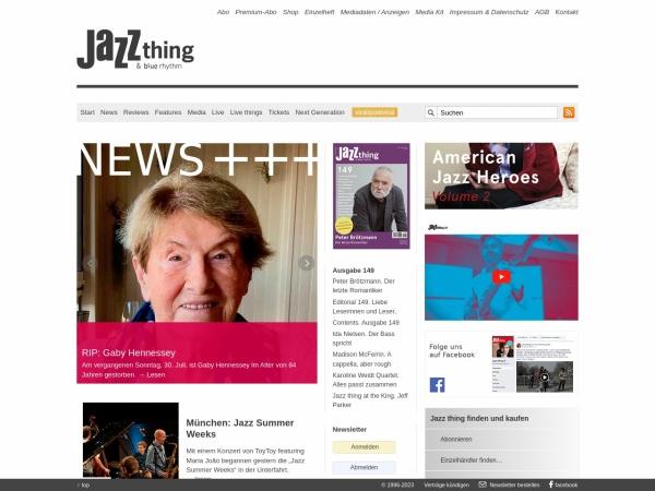 Screenshot von www.jazzthing.de