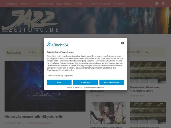 Screenshot von www.jazzzeitung.de