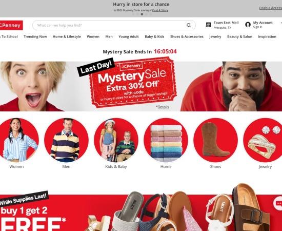 Screenshot of www.jcpenney.com