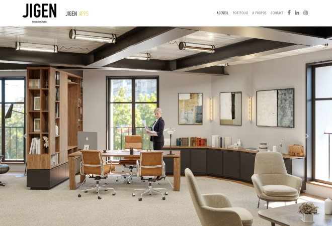 Screenshot of www.jigen.fr