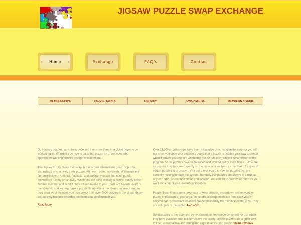 Screenshot of www.jigsawpuzzleswapexchange.com
