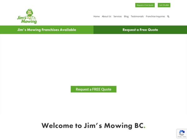 Screenshot of www.jimsmowing.ca