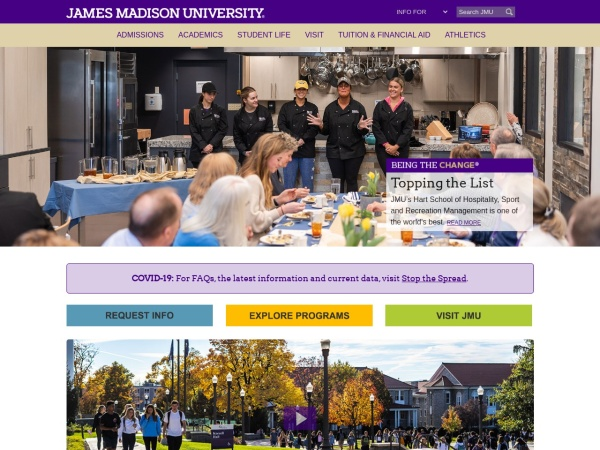 Screenshot of www.jmu.edu