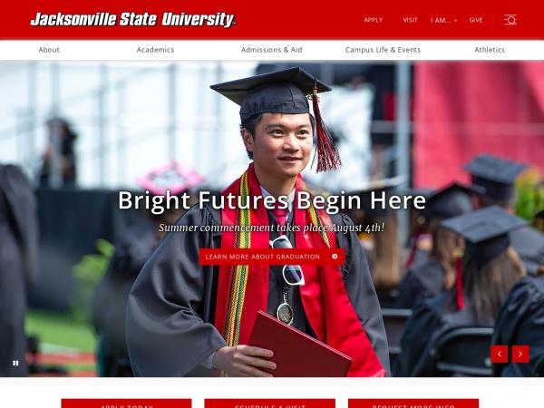 Screenshot of www.jsu.edu