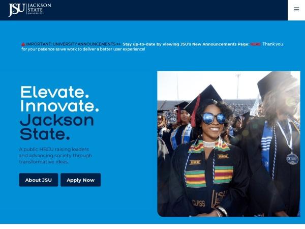 Screenshot of www.jsums.edu