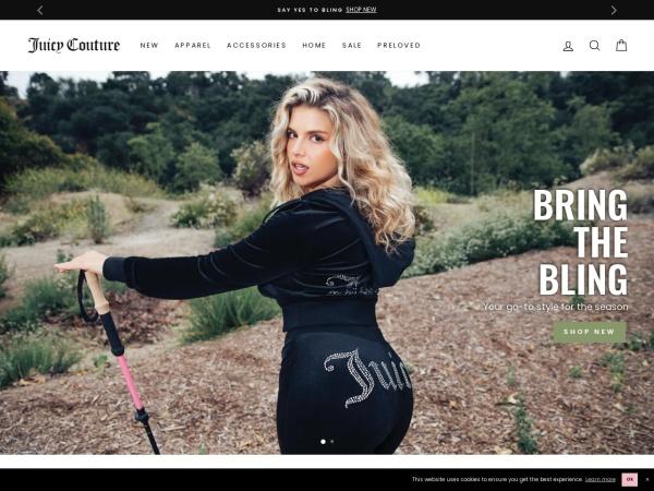 Screenshot of www.juicycouture.com