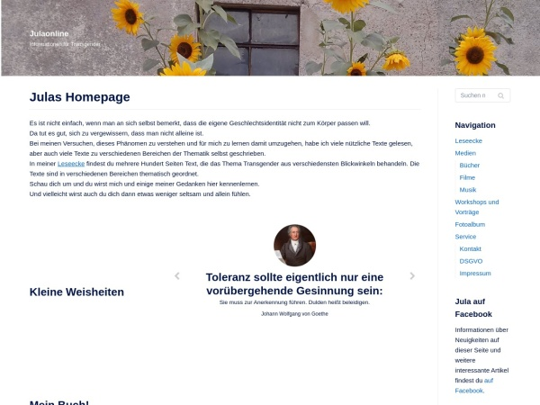 Screenshot of www.julaonline.de