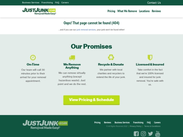 Screenshot of www.justjunk.com