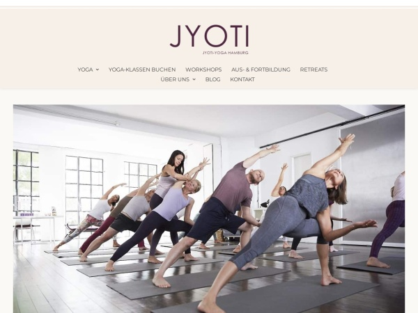 Screenshot von www.jyoti-yoga.de