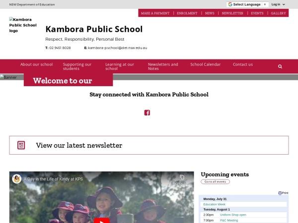 Screenshot of www.kambora-p.schools.nsw.edu.au