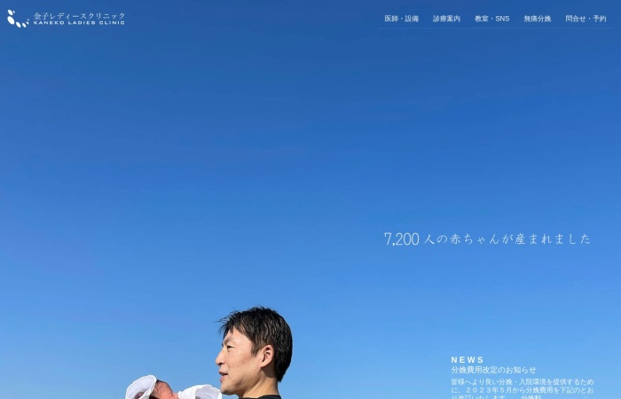 Screenshot of www.kaneko-ladies.com