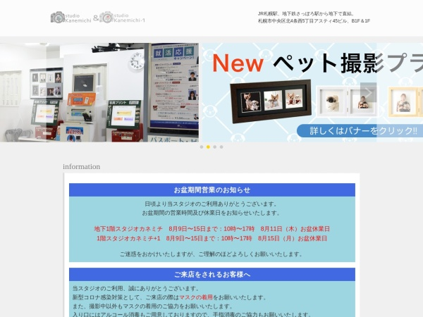 Screenshot of www.kanemichi-gr.jp
