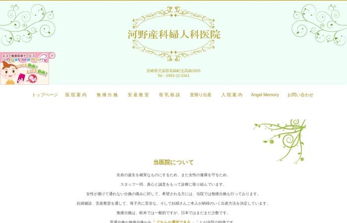 Screenshot of www.kawano-sf.com