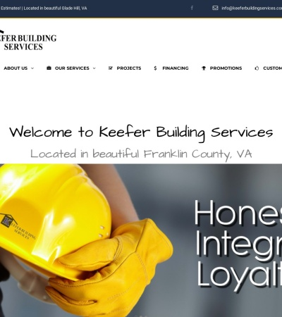Screenshot of www.keeferbuildingservices.com