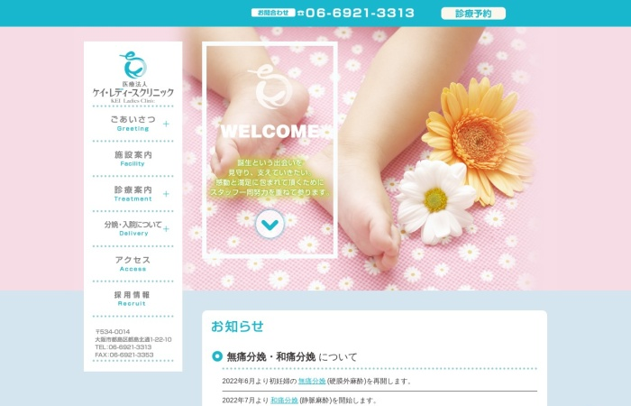 Screenshot of www.kei-ladiesclinic.jp