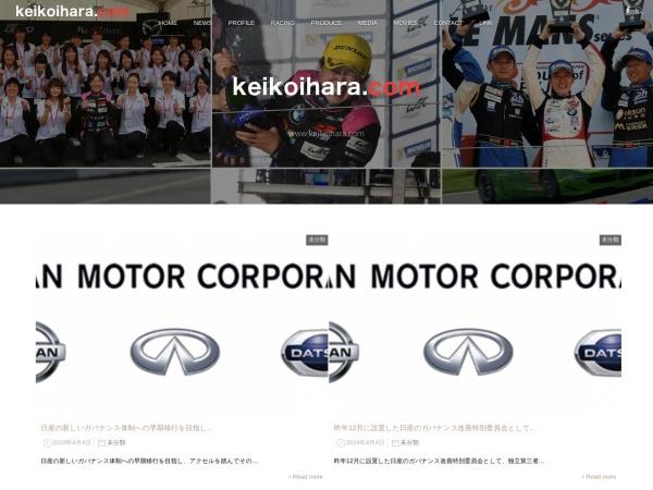 Screenshot of www.keikoihara.com