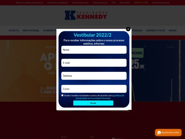 Screenshot of www.kennedy.br