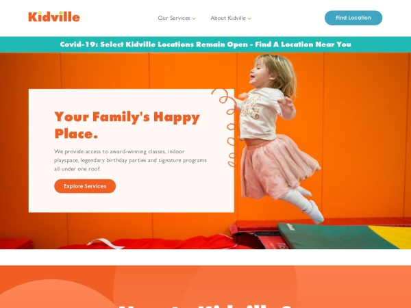 Screenshot of www.kidville.com