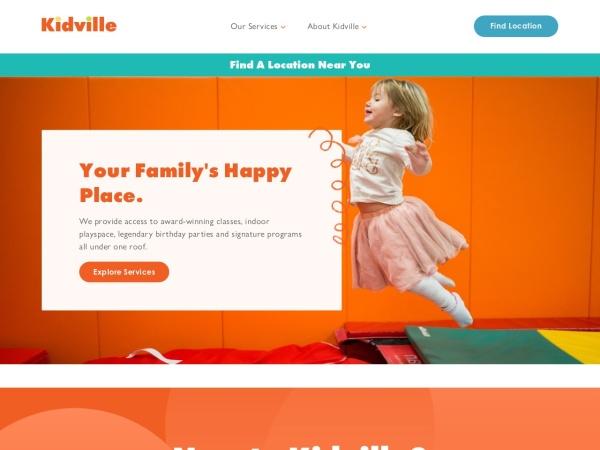 Screenshot of www.kidville.com
