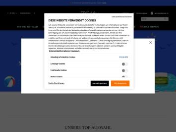 Screenshot von www.kiehls.de