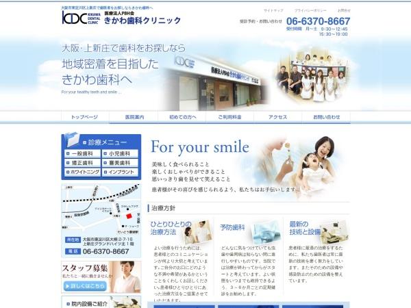 Screenshot of www.kikawa.com