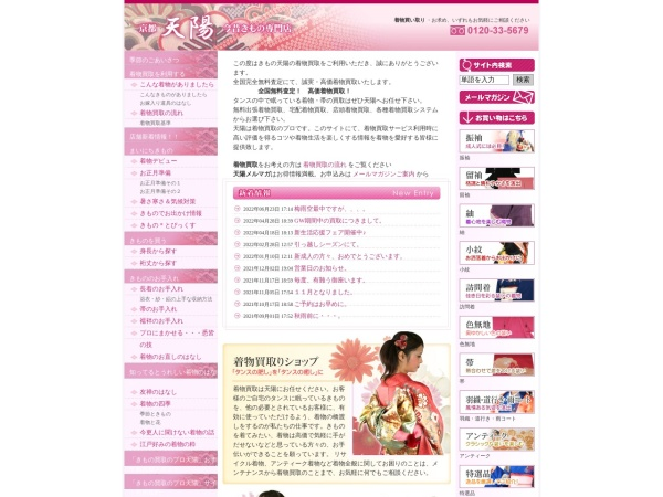 Screenshot of www.kimonotenyou.com