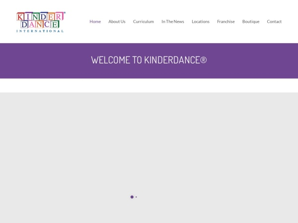 Screenshot of www.kinderdance.com