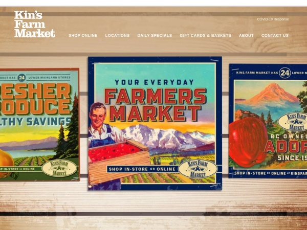 Screenshot of www.kinsfarmmarket.com