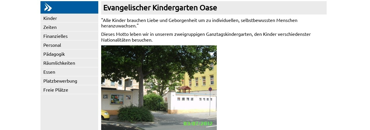 Screenshot of www.kita-bayern.de
