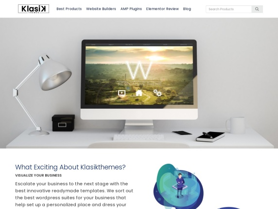 Klasik Themes homepage