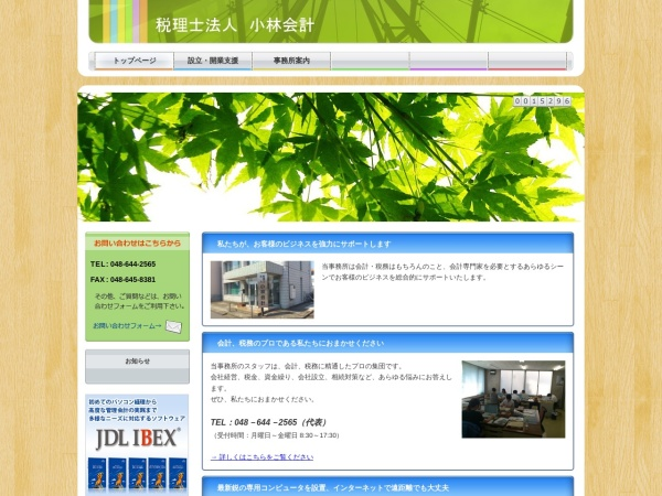 Screenshot of www.kobayashi-tax.or.jp