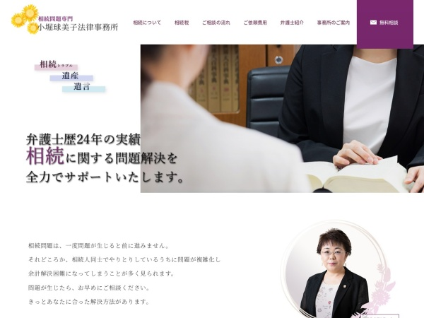 Screenshot of www.kobori-law.com