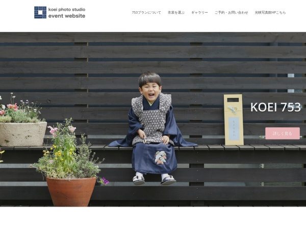 Screenshot of www.koei-photo.com