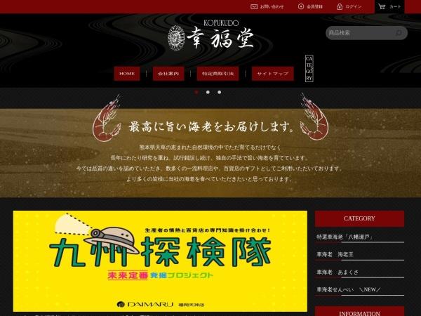 Screenshot of www.koufukudo.co.jp