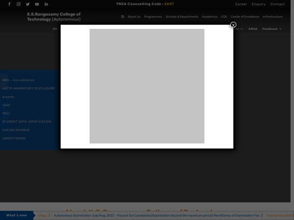 Screenshot of www.ksrct.ac.in