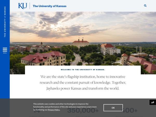 Screenshot of www.ku.edu