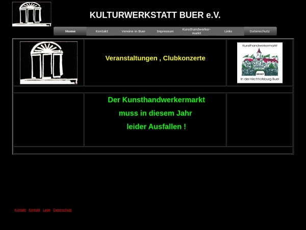 Screenshot of www.kultur-in-buer.de
