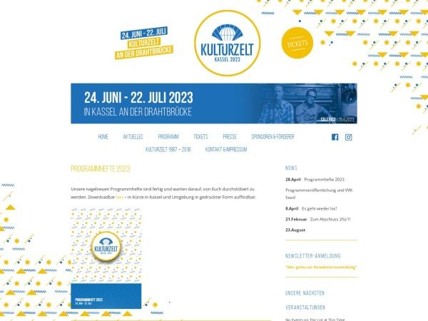 Screenshot von www.kulturzelt-kassel.de