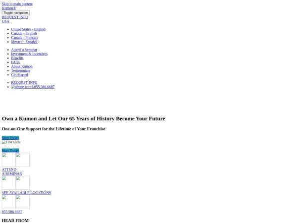 Screenshot of www.kumonfranchise.ca