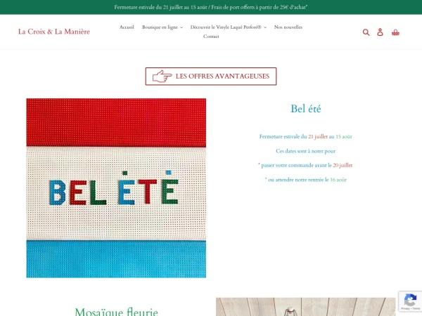 Screenshot of www.lacroixetlamaniere.com